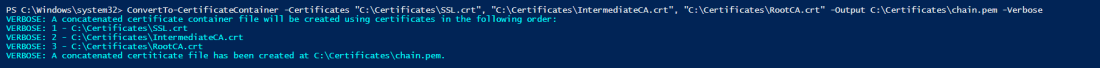 ConvertTo-CertificateContainerResults