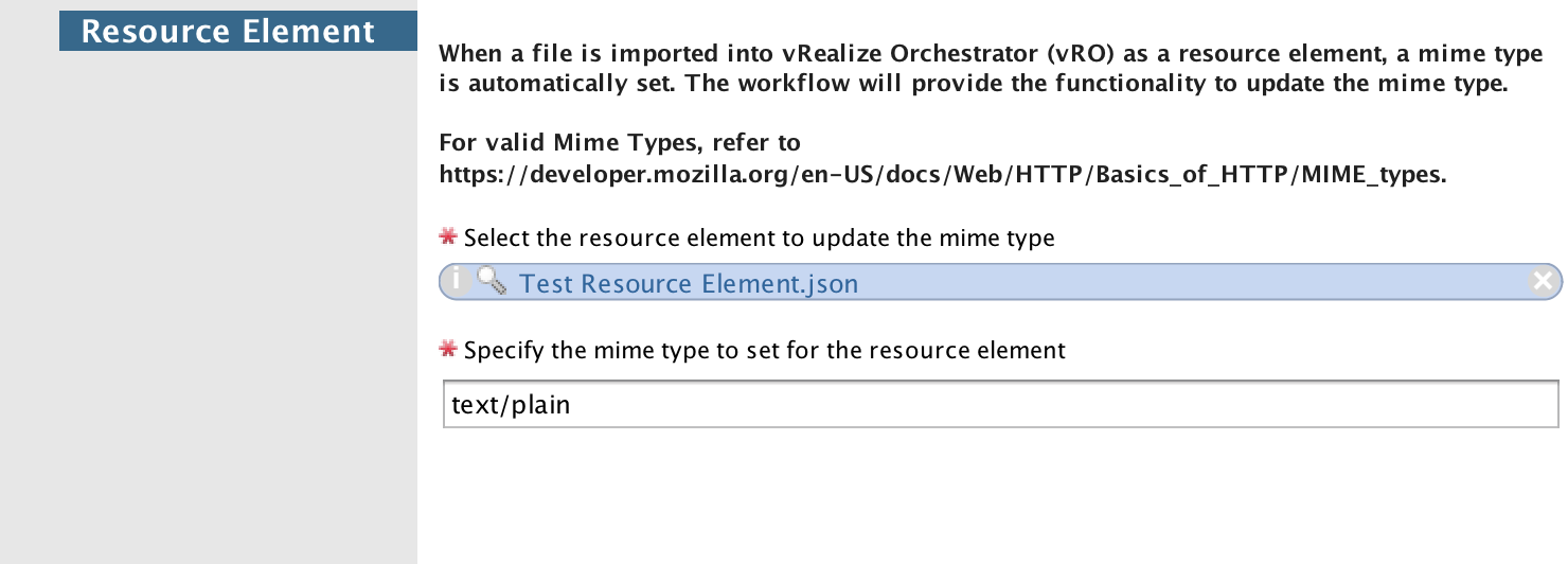 Set Mime Type for Resource Element in vRealize Orchestrator \u2013 Deans Blog